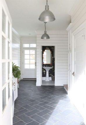 black-tile-floors-white grout